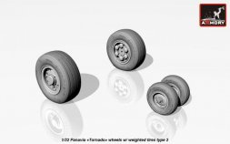 Panavia Tornado wheels w/ weighted tires, type 2 1:32