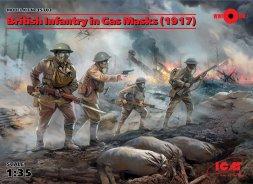 British Infantry in Gas Masks (1917) 1:35