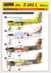 Zlin Z-242L - military service decals 1:72