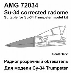 Su-34 corrected radom for Trumpeter 1:72