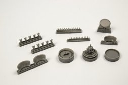 B-17G Engine Set (starboard side engine) for Airfix 1:72