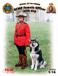 ICM RCMP Female Officer with dog 1:16