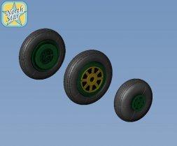 North Star MiG-15 Fagot wheels set - No Mask series 1:48