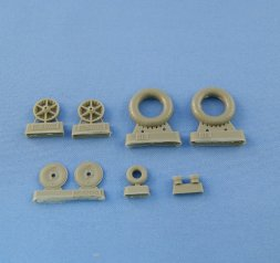 Bf 109F-2/4, G-2 Weighted wheels 1:32