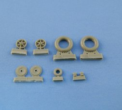 Bf 109E-4/7 Weighted wheels set (Continental) 1:32