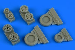 F-16I weighted wheels (Goodyear) for Kinetic 1:48