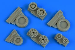 F-16I weighted wheels (Goodyear) for Hasegawa 1:48
