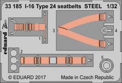Eduard I-16 Type 24 seatbets STEEL 1:32