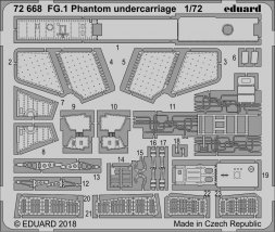 Edaurd FG.1 Phantom undercarriage for Airfix 1:72