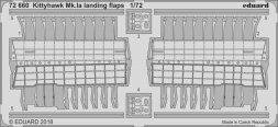 Edaurd Kittyhawk Mk. Ia landing flaps for Special Hobby 1:72