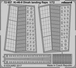 Edaurd Ki-46-II Dinah landing flaps for Hasegawa 1:72