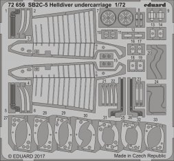 Edaurd SB2C-5 Helldiver undercarriage for Special Hobby 1:72