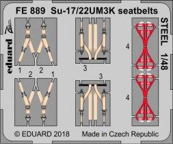 Edaurd Su-17/ Su-22UM3K seatbelts STEEL 1:48