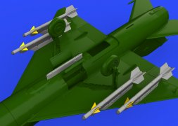 Eduard Brassin R-3S missiles w/ pylons for MiG-21 1:72