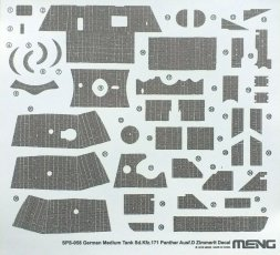 Meng Sd.Kfz.171 Panther Ausf. D - Zimmerit Decal 1:35