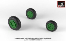 MiG-21 early wheels w/ weighted tires 1:32