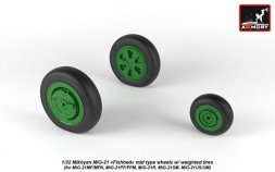 MiG-21 Fishbed mid. wheels w/ weighted tires 1:32