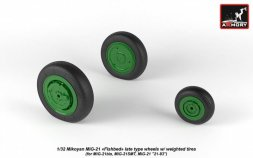 MiG-21 Fishbed late wheels w/ weighted tires 1:32
