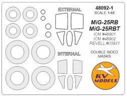 MiG-25RB/RBT mask (double sided) for ICM/ Revell 1:48