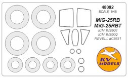 MiG-25RB/RBT mask for ICM/ Revell 1:48