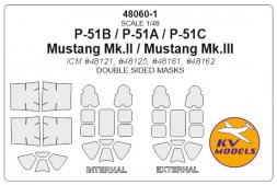 KV Models P-51A/B mask (dozble sided) for ICM 1:48
