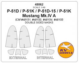 KV Models P-51D mask (dozble sided) for ICM 1:48
