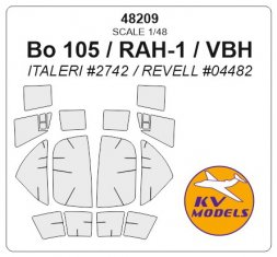 KV Models Bo-105 / RAH-1 / VBH mask for Italeri/ Revell 1:48
