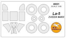 KV Models La-5 mask for Zvezda 1:48