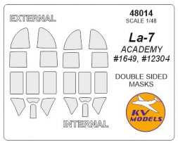 La-7 mask (doeble sided) for Academy 1:48