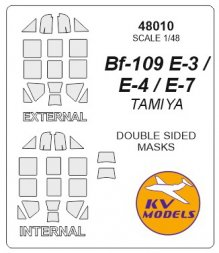 Bf 109E-4/7 Trop mask (double sided) for Tamiya 1:48
