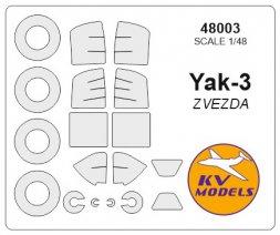 Yak-3 mask for Zvezda 1:48
