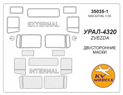 URAL-4320 mask (double sided) for Zvezda 1:35
