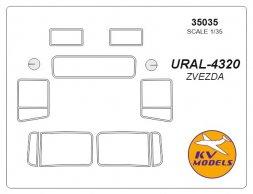 URAL-4320 mask for Zvezda 1:35