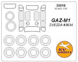 GaZ-M1 mask for Zvezda 1:35