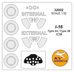 I-16 type 24 mask (double sided) for ICM 1:32