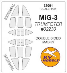 MiG-3 mask (Double sided) for Trumpeter 1:32
