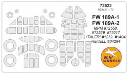 Fw 189A-1/A-2 mask for MPM/Italer/Revell 1:72