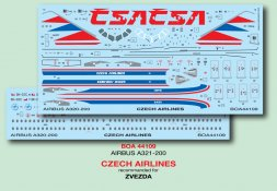 Airbus A321-200 - CSA Czech Airlines 1:144