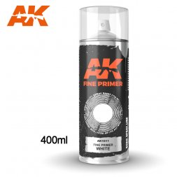 AK Spray - Primer Fine White 400ml