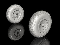 P-51D Mustang - Wheels (Diamond and Hole Tread Pattern) 1:32