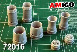 MiG-31B/BM exhaust nozzle for Trumpeter 1:72