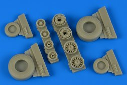 F-14B/D Tomcat weighted wheels for Tamiya 1:48