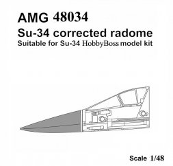 Su-34 corrected radome for Hobby Boss 1:48