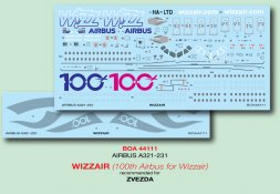 Airbus A321-231 - WIZZAIR (100th Airbus for Wizzair) 1:144