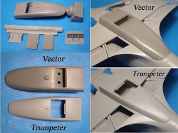 MiG-3 Corrected radiator for Trumpeter 1:48