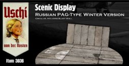 Russian PAG-Type Taxiway Winter Version w/ Blast Wall (Circular) 1:72