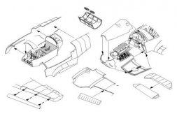 Bf 108 Taifun detail set for Eduard 1:48