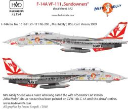 F-14A VF-111 - Sundowners 1:72
