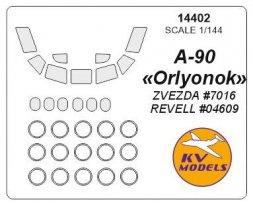 A-90 Orlyonok mask for Zvezda/ Revell 1:144