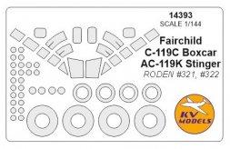 Fairchild C-119C/ AC-119K mask for Roden 1:144
